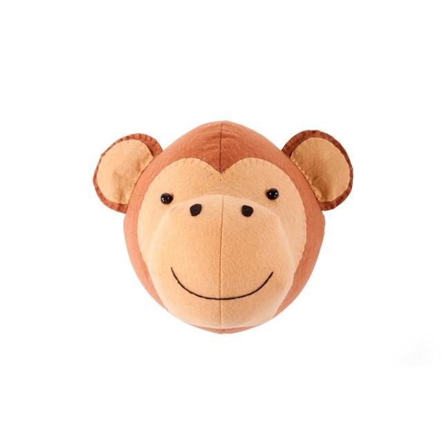 Cabeza animal fieltro - Mono'