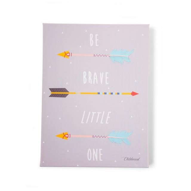 Pintura Óleo - Be Brave - Flechas'